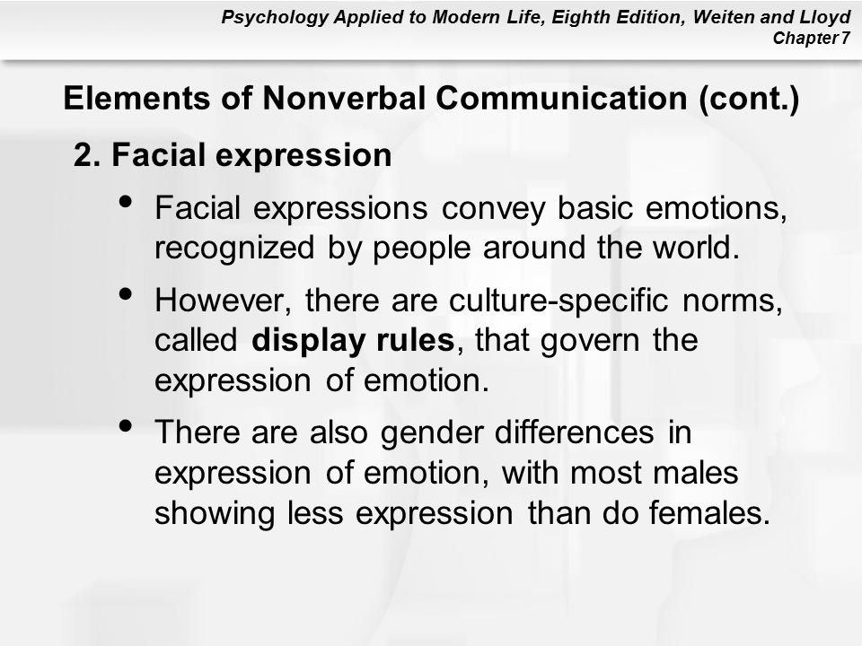 an analysis of nonverbal sex differences Nonverbal behavior is a hot topic in the popular the diagnostic analysis of nonverbal accuracy sex differences in self-awareness of smiling during a.