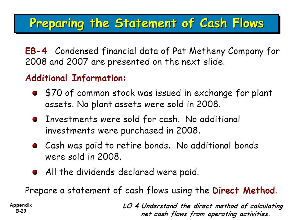 memorandum statement of cash flows essay An important part of the capital budgeting process is the estimation of the cash flows essay paper on cash flow profit and loss in financial statements do.