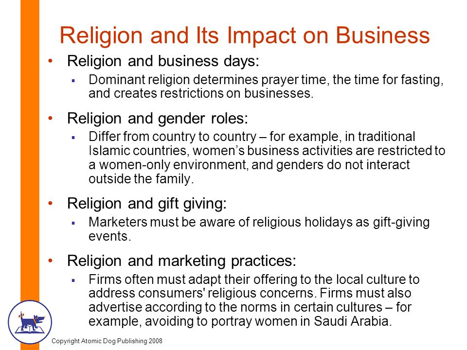 Religion and how it influences cultures