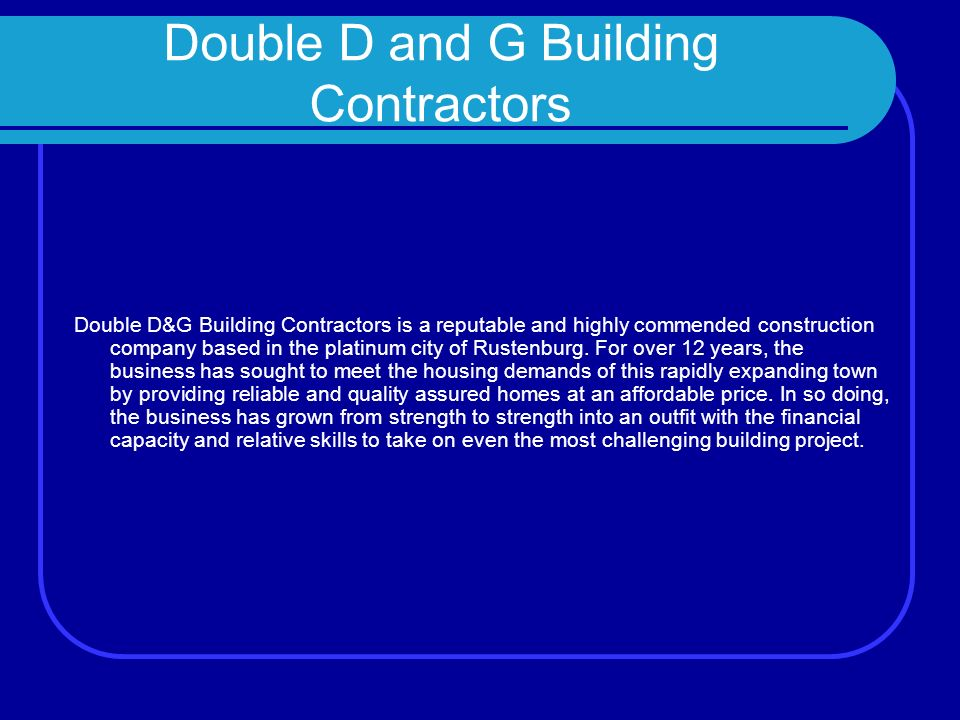 Double D And G Building Contractors