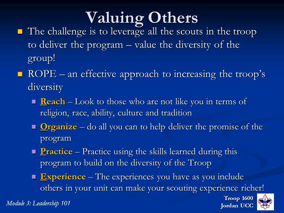 Troop 1600 Junior Leader Training