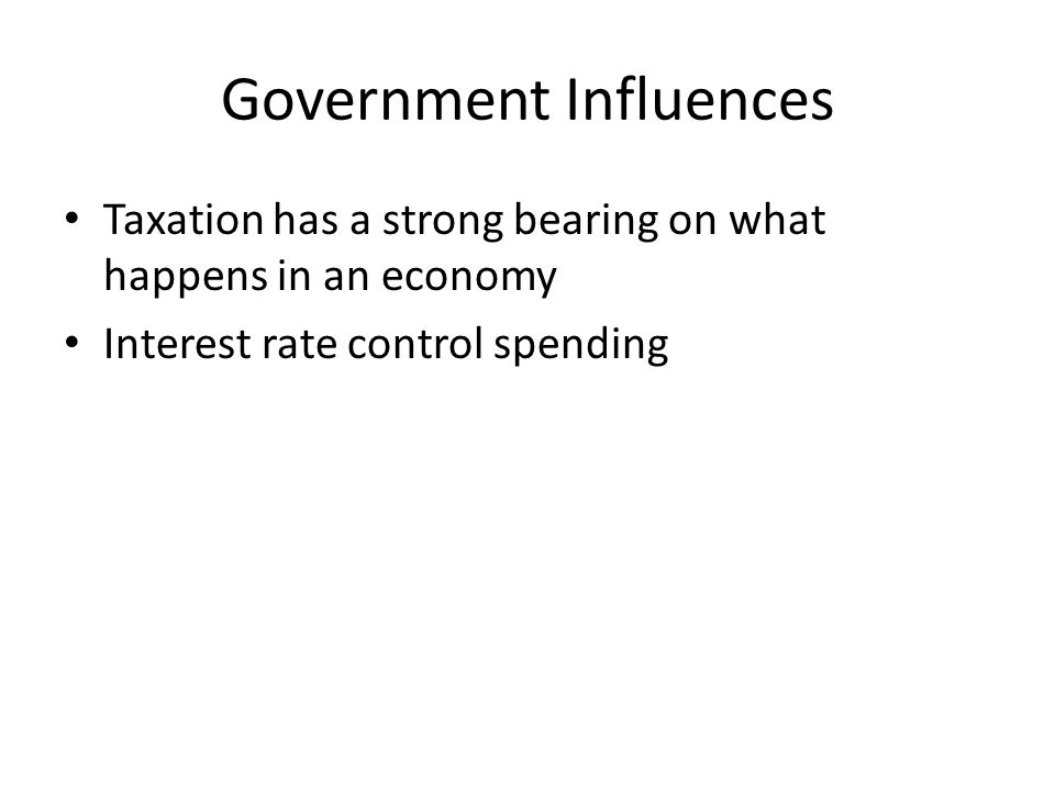 government spending influences economy Government spending can be a useful economic policy tool for governments fiscal policy can be defined as the use of government spending and/or taxation as a mechanism to influence an economy there are two types of fiscal policy: expansionary fiscal policy, and contractionary fiscal policy expansionary fiscal policy is an increase in.