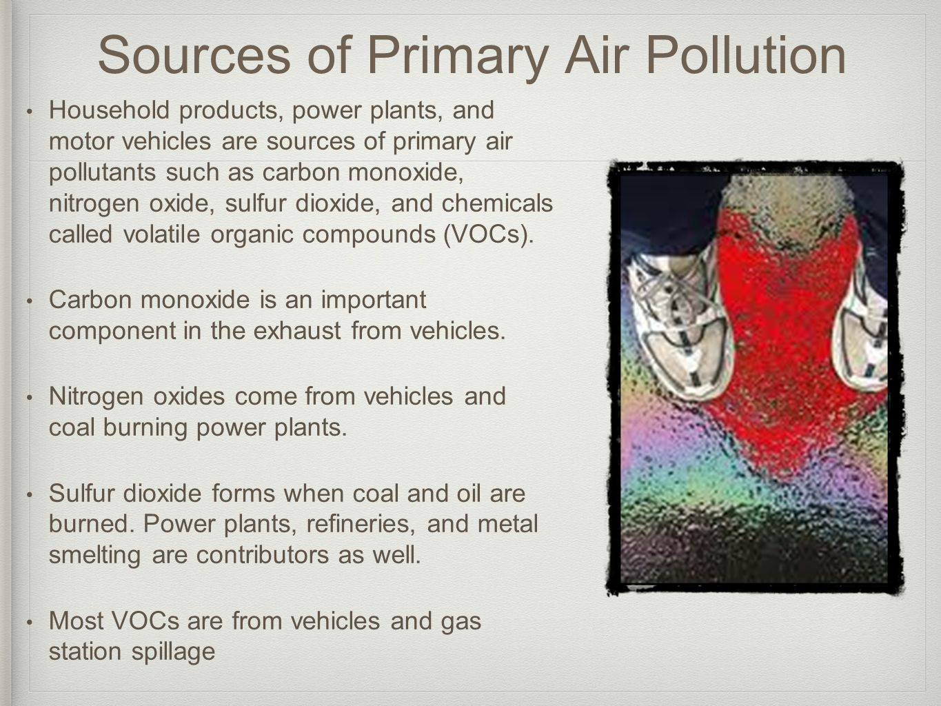 Sources of Primary Air Pollution
