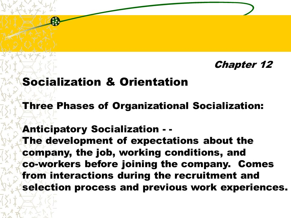 organizational recruitment and socialization This paper will discuss how the principles of organizational psychology can be applied to recruitment and organizational socialization the structure of the paper will be as follows: first.