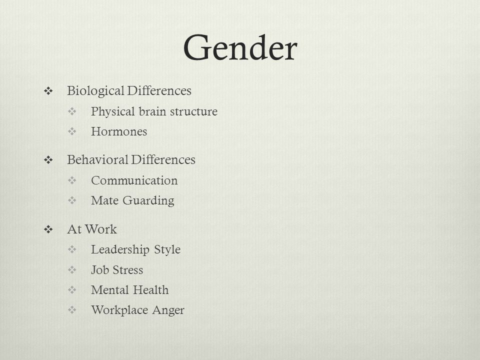 gender differences in mental illness experiences Mental illness affects a  in an attempt to gain a better understanding of who experiences mental  and gender differences in self-reported mental health.