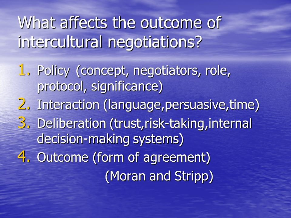 intercultural communication and negotiation in indochina 1 gina poncini mirjaliisa charles teaching intercultural negotiation and communication skills: an international experiment working paper # 2, march 1999.