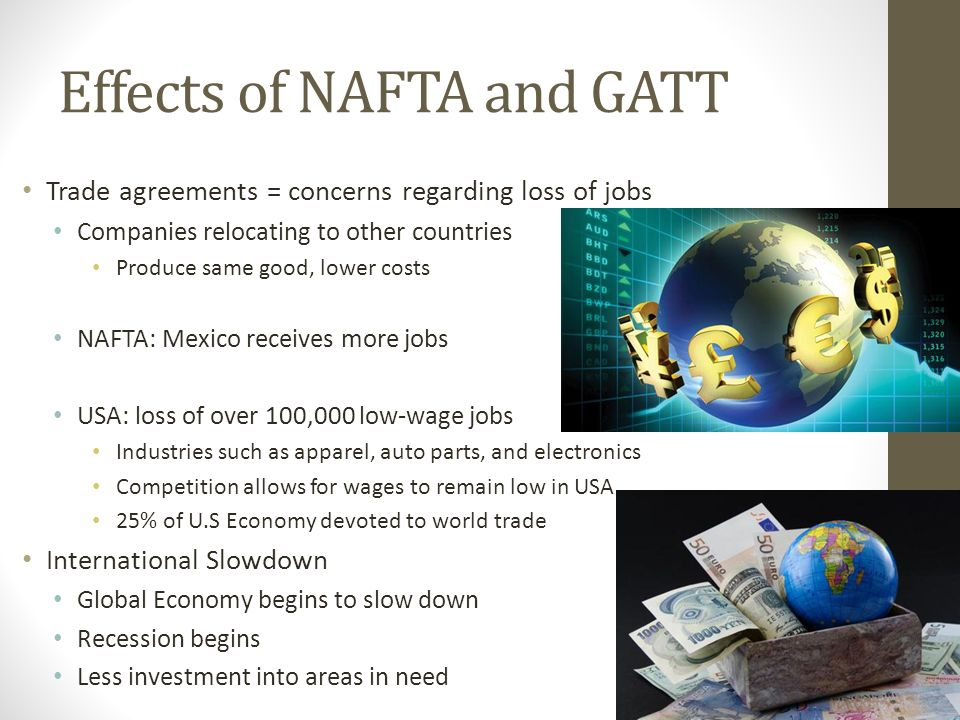 impacts of free trade in international Trade has some of its effects through the channel of accelerating economic growth, because trade contributes to growth analogously to investment, technological progress, and so on.
