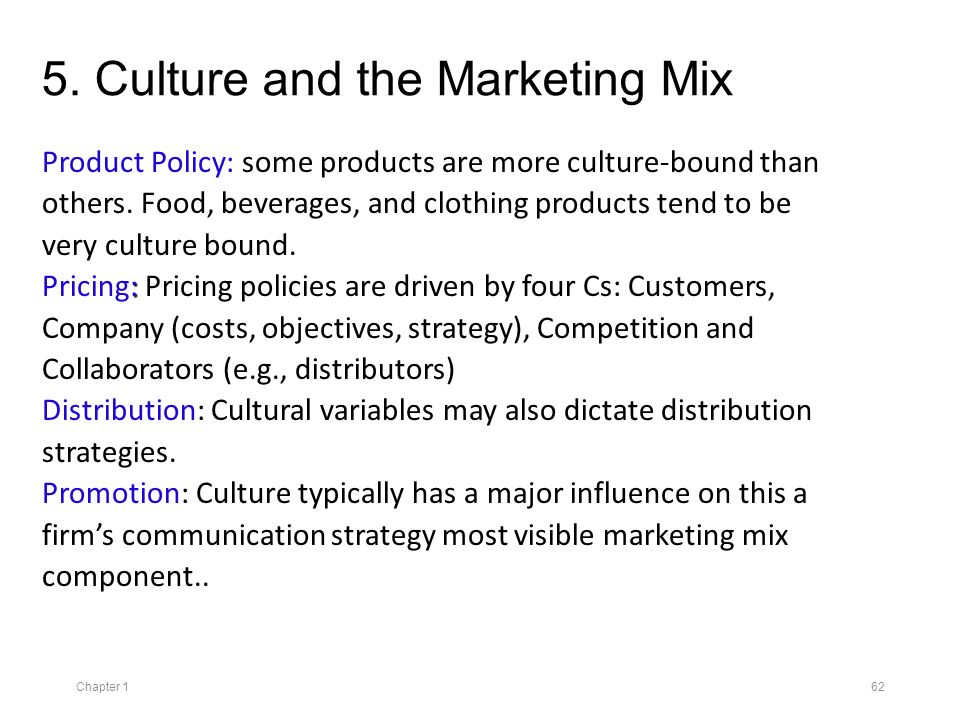 impact of culture on marketing strategies Major cultural groupings, and examines marketing strategies that could  ho1:  there is no significant cultural influence on marketing strategies of multina.