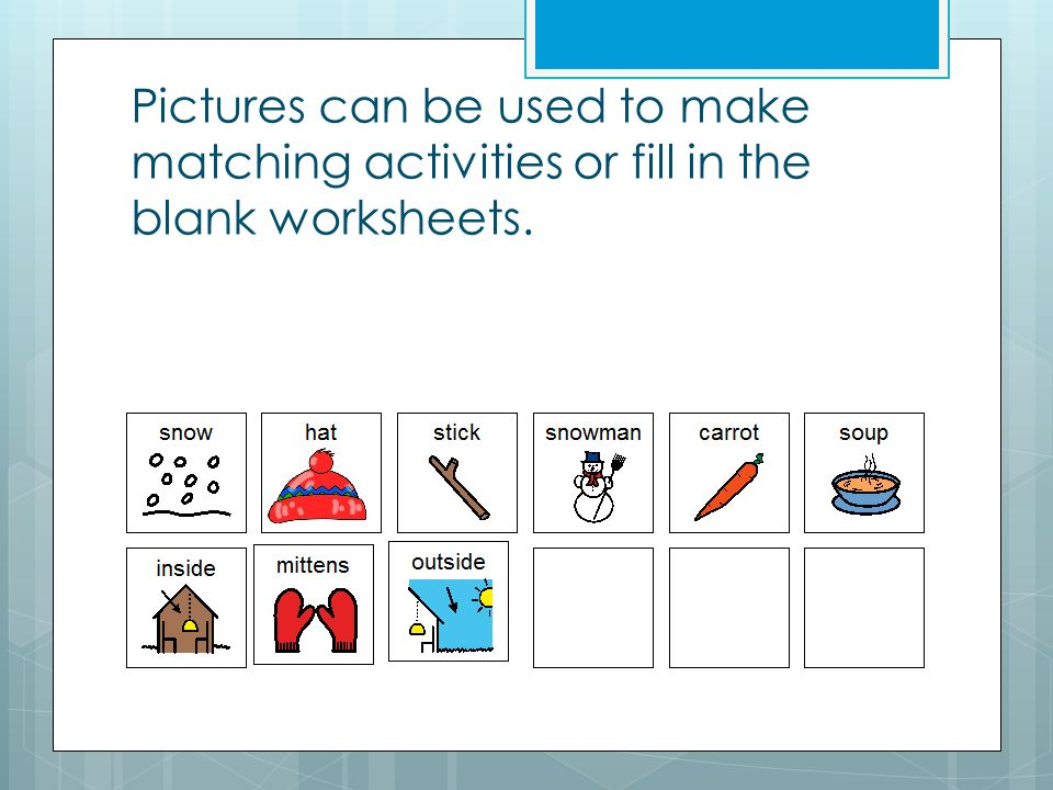 Blank Matching Worksheets : Comprehension questions pictures activities reading a z
