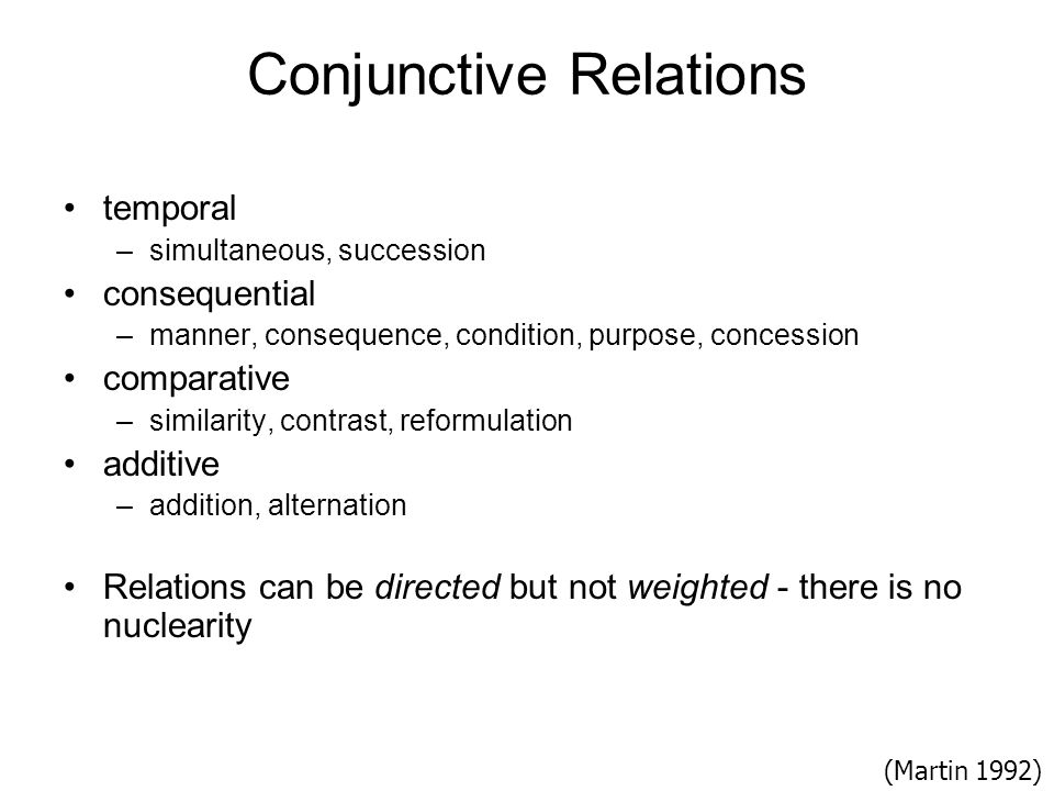 Conjunctive Relations