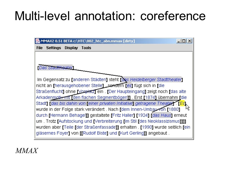 Multi-level annotation: coreference