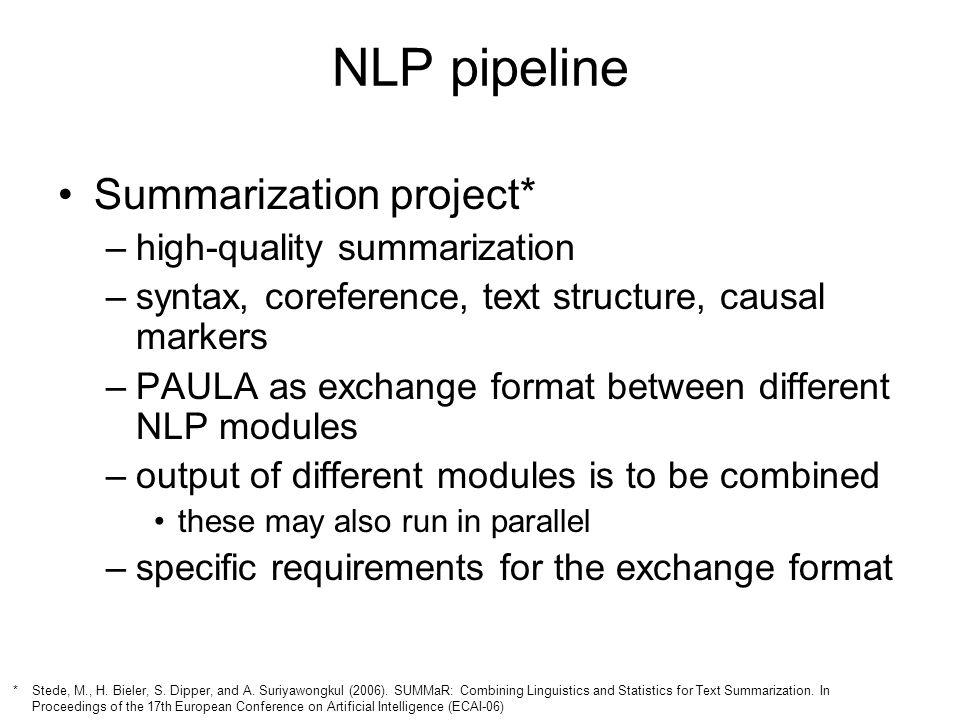 NLP pipeline Summarization project* high-quality summarization
