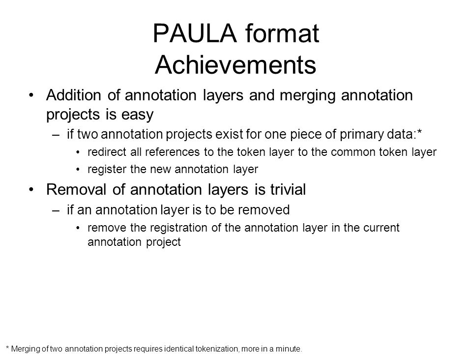 PAULA format Achievements