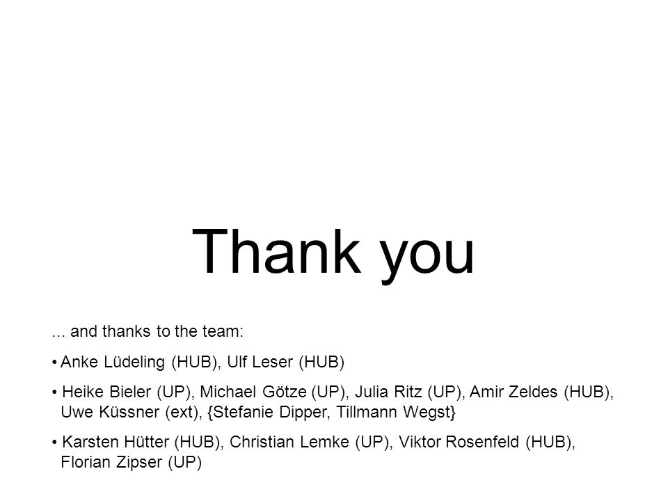 Thank you ... and thanks to the team: