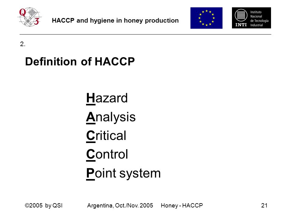 Haccp hygiene in honey production ppt download - Haccp definition cuisine ...
