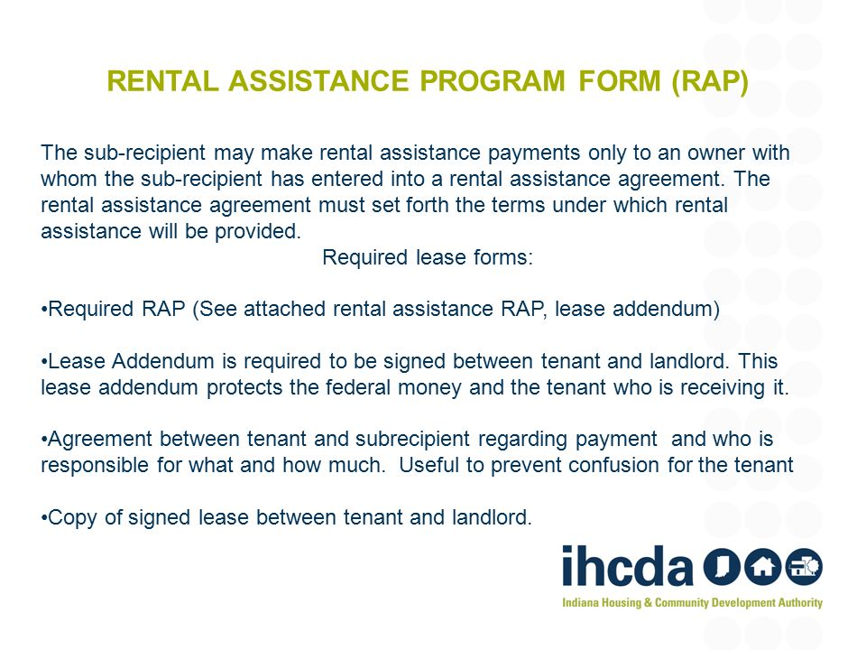 Rental Assistance Form Printable Sample Rental Lease Agreement