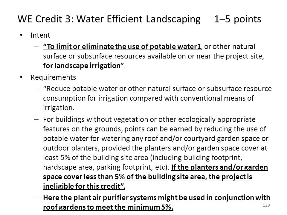 WE Credit 3: Water Efficient Landscaping 1–5 points