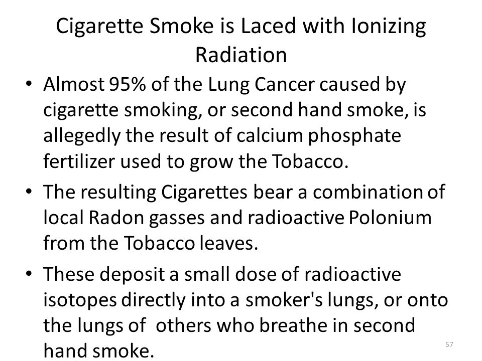 Cigarette Smoke is Laced with Ionizing Radiation
