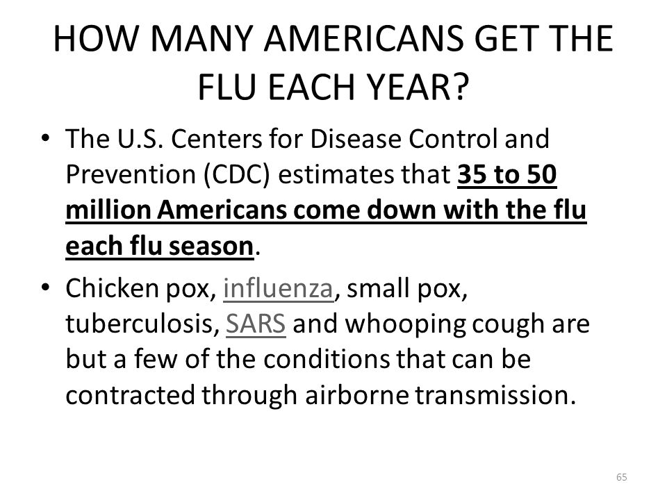HOW MANY AMERICANS GET THE FLU EACH YEAR