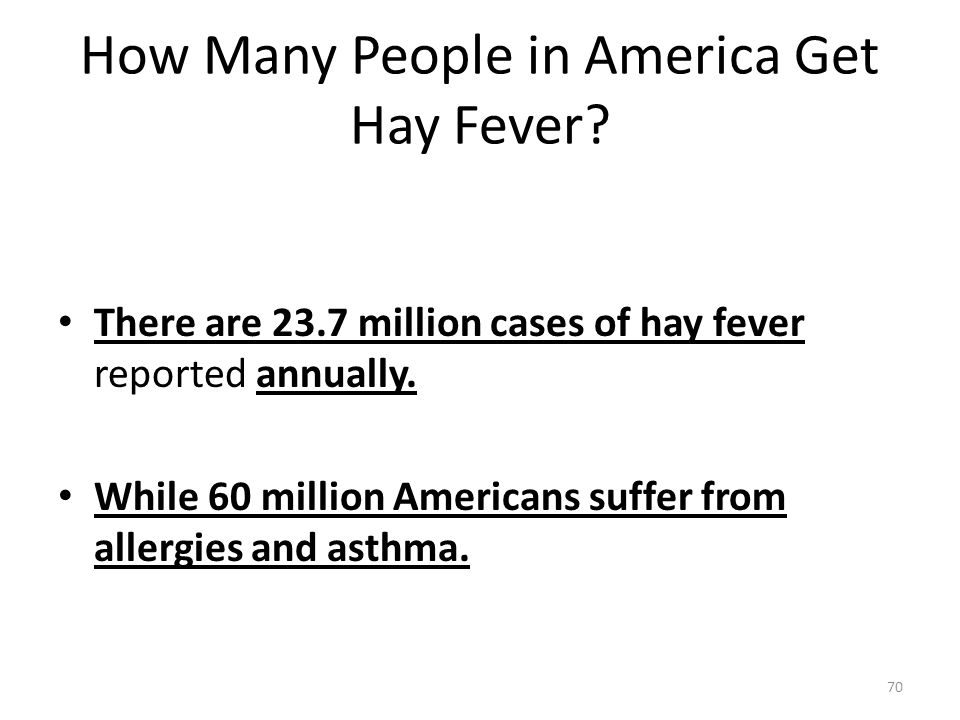 How Many People in America Get Hay Fever