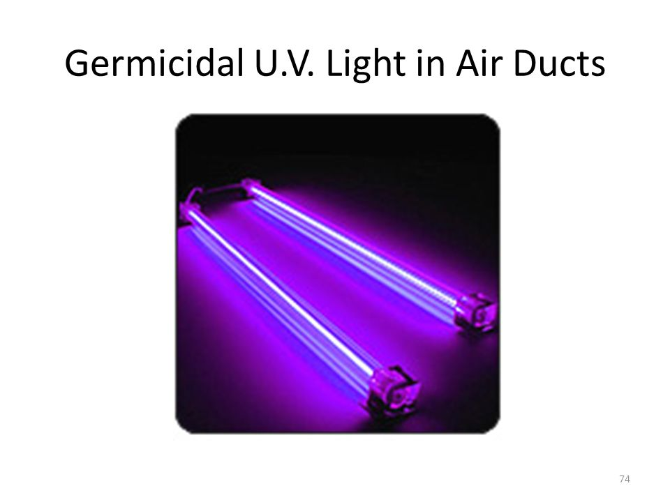 Germicidal U.V. Light in Air Ducts