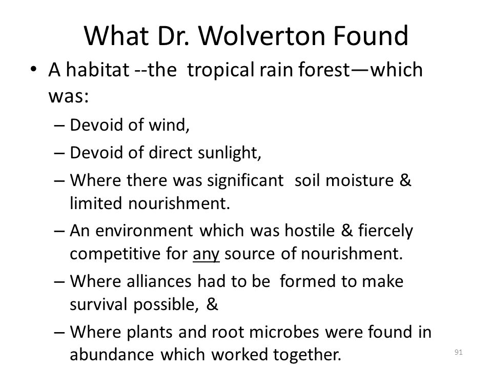 What Dr. Wolverton Found