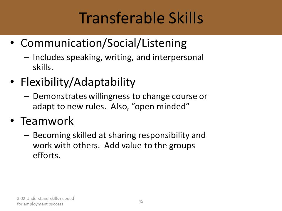 interpersonal and transferable skills essay Essays and techniques transferable skills 1 how to write an a+ essay transferable skills by dr jennifer minter writing better essays and persuasive.