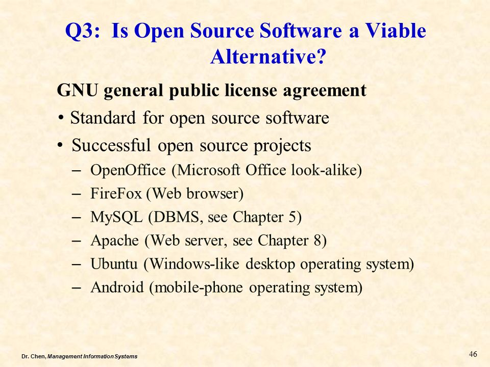 Part ii next three chapters ppt video online download q3 is open source software a viable alternative platinumwayz
