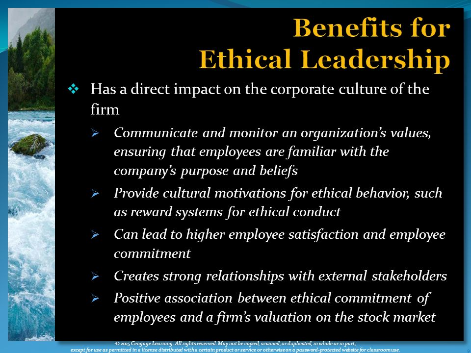 """the relationship between ethical leaders and stakeholders Ethics and leadership susan p mullane, phd  book leadership and ethics, william hitt offers the concept of making """"right good  stakeholders in the ."""