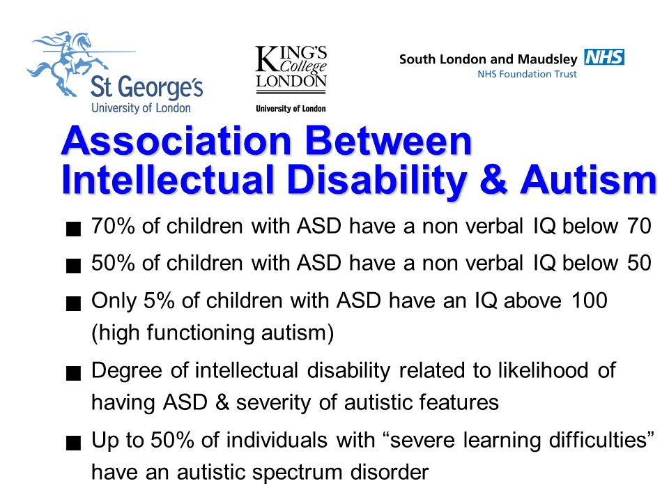 Autism With Intellectual Disability >> Relationship Between Autism And Mental Disability