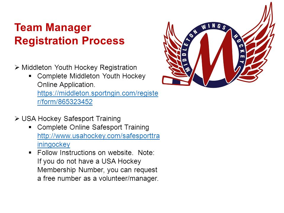 Middleton Wings Youth Hockey - ppt video online download