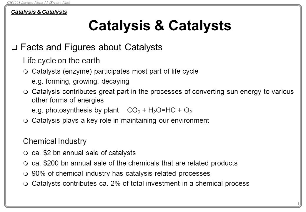 Catalysts for a green industry