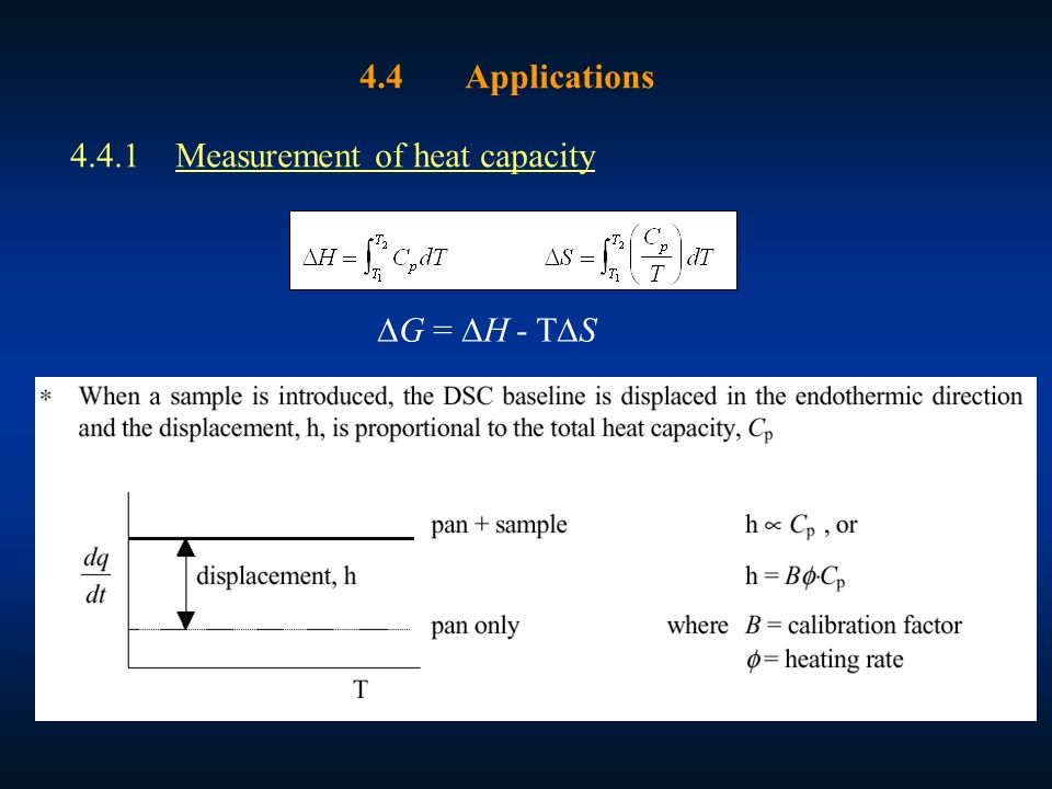 applications of standard enthalpy change