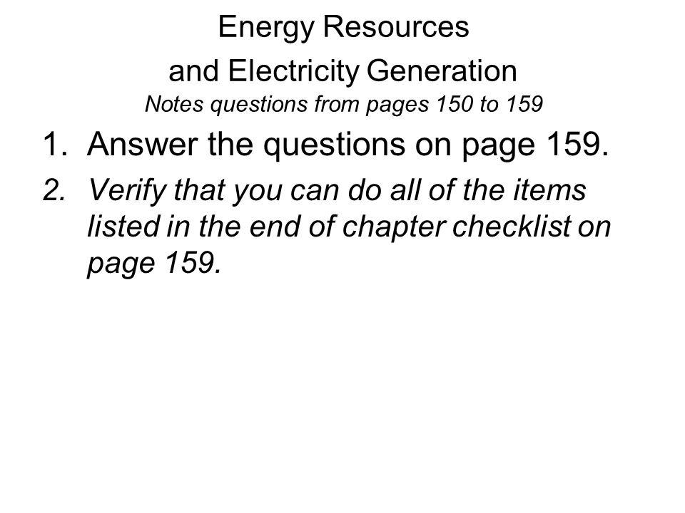 Edexcel Igcse Physics 4 4 Energy Resources And Electricity