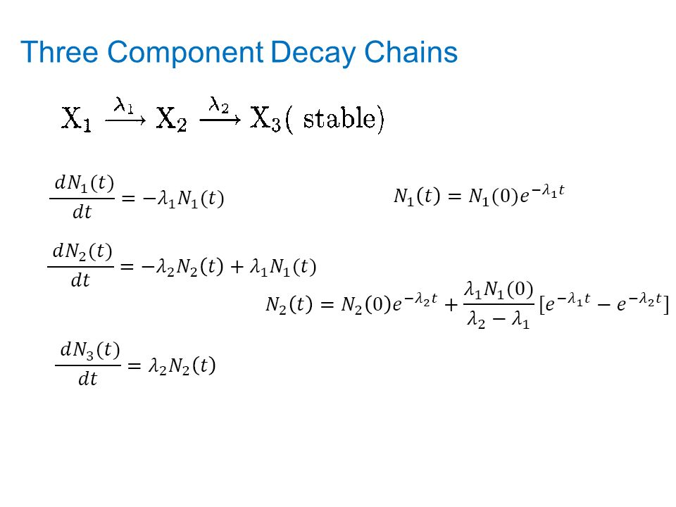 Three Component Decay Chains
