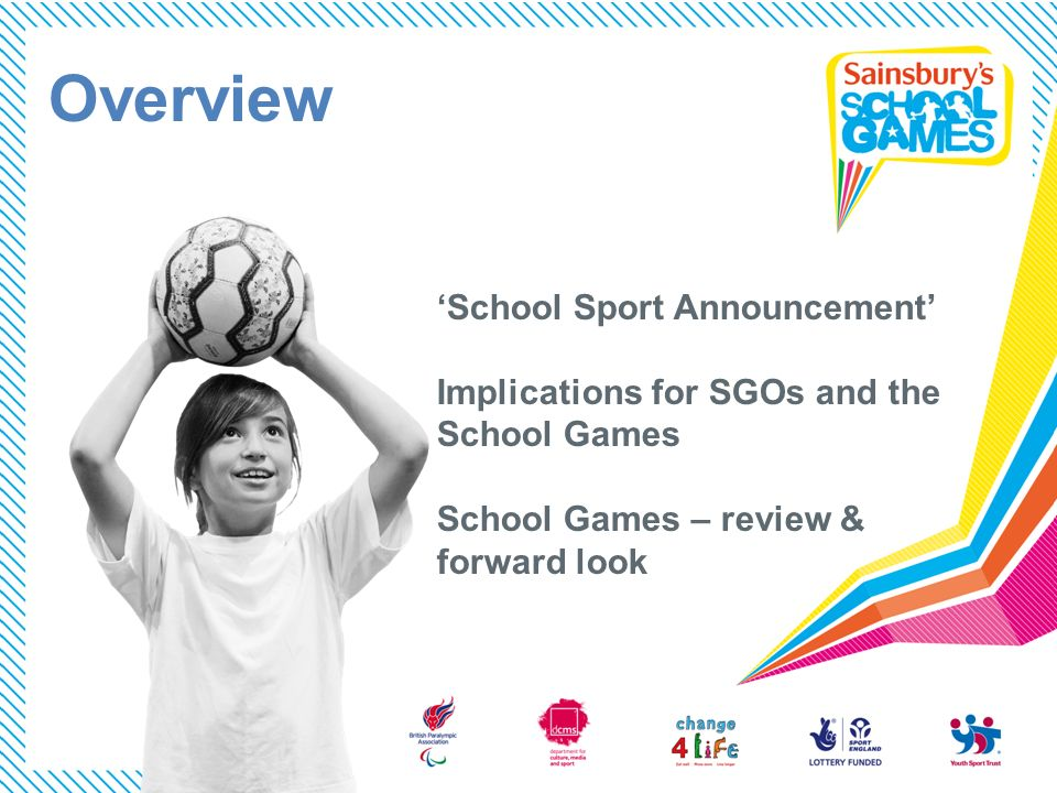 Overview 'School Sport Announcement' Implications for SGOs and the