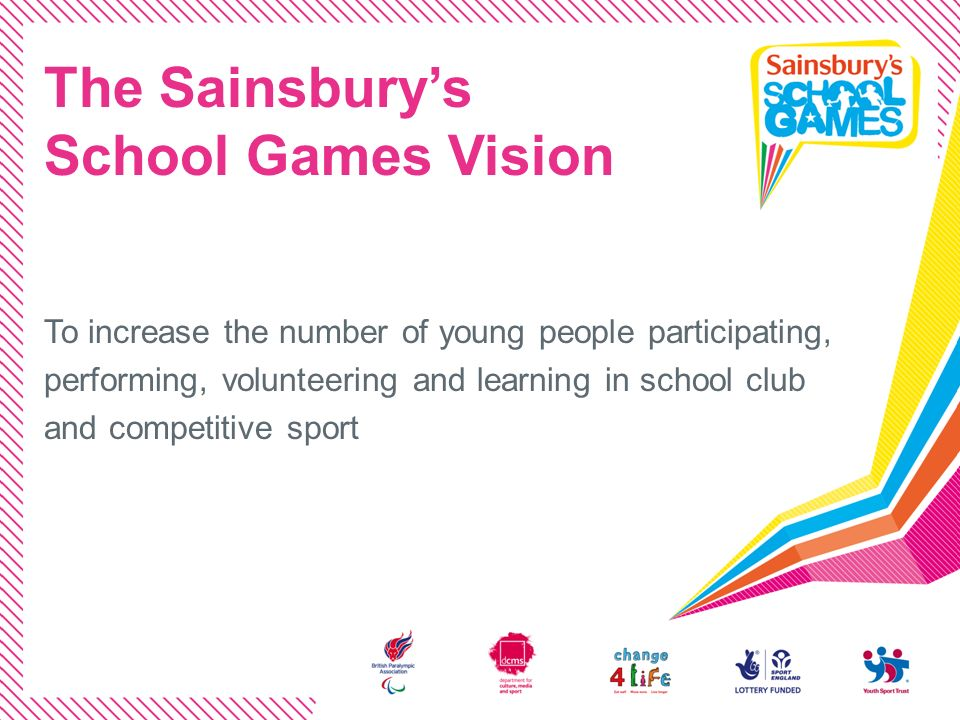 The Sainsbury's School Games Vision