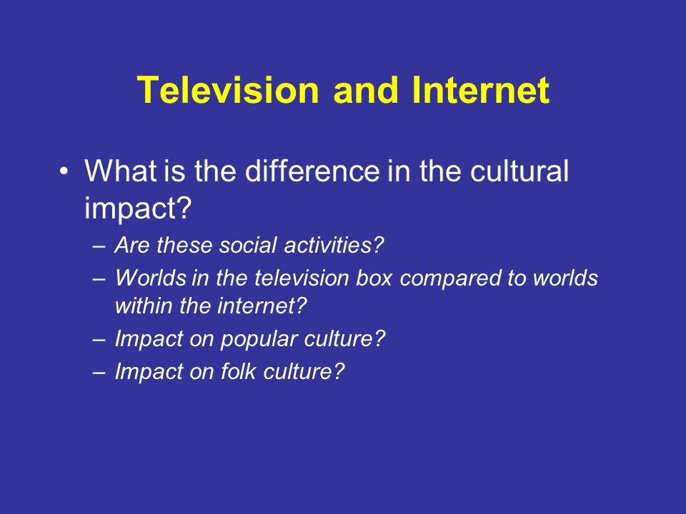 The impact of internet on traditional