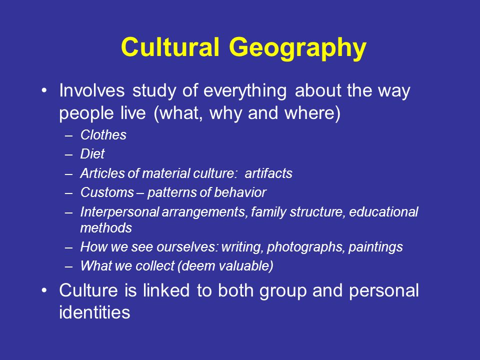 cultural geography assignment aabbc Cultural geography is a sub-field within human geography pages in category cultural geography the following 66 pages are in this category, out of 66 total.