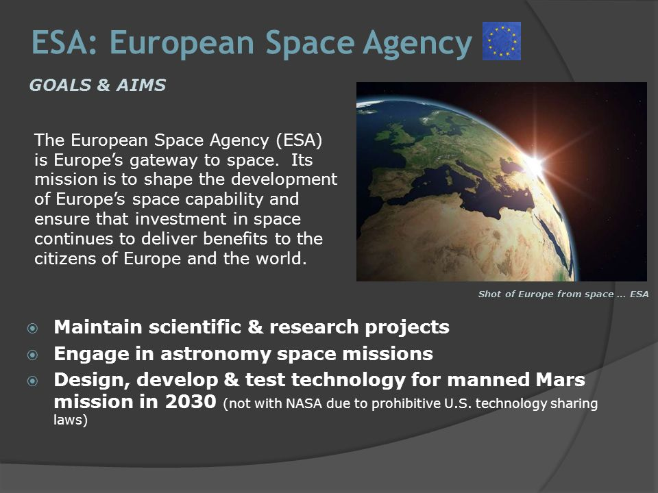 WORLD SPACE PROGRAMS -Extending man's knowledge of Earth ...