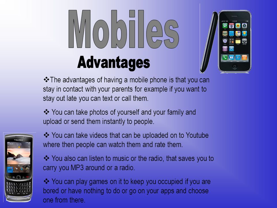 disadvantages of mobiles