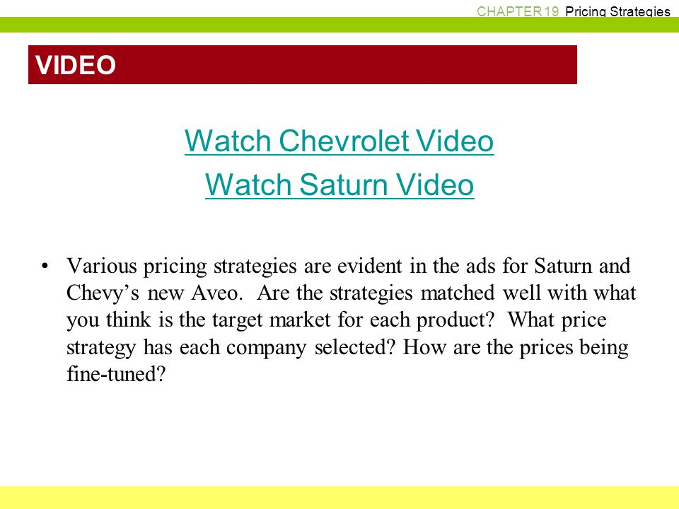 Channel and pricing strategies kudler fine