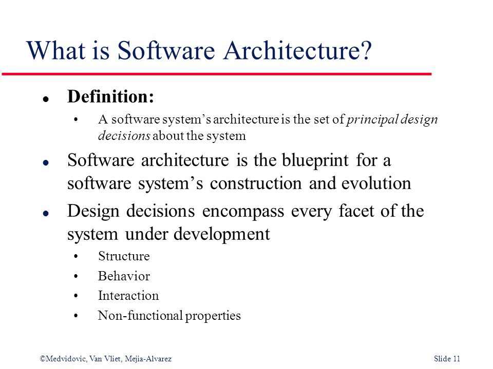Architectural design establishing the overall structure of a 11 what is software architecture definition a software systems malvernweather Images