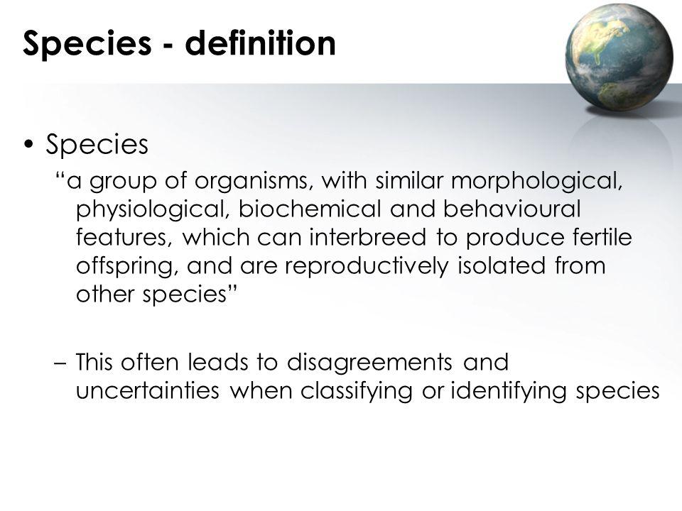 Species - definition Species