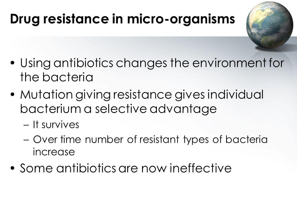 Drug resistance in micro-organisms