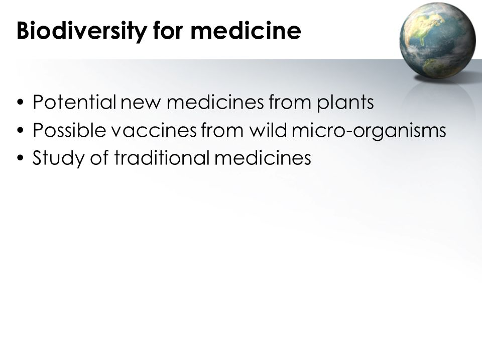 Biodiversity for medicine