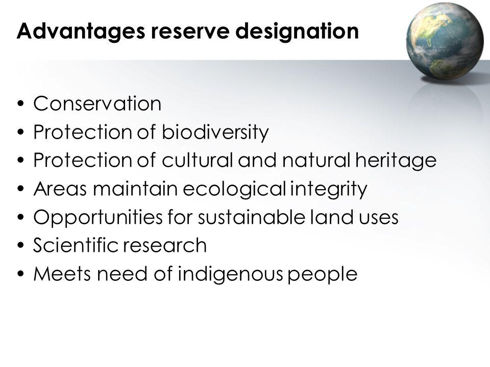 Advantages reserve designation