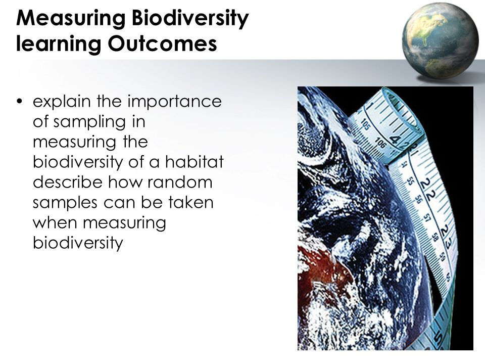 Measuring Biodiversity learning Outcomes