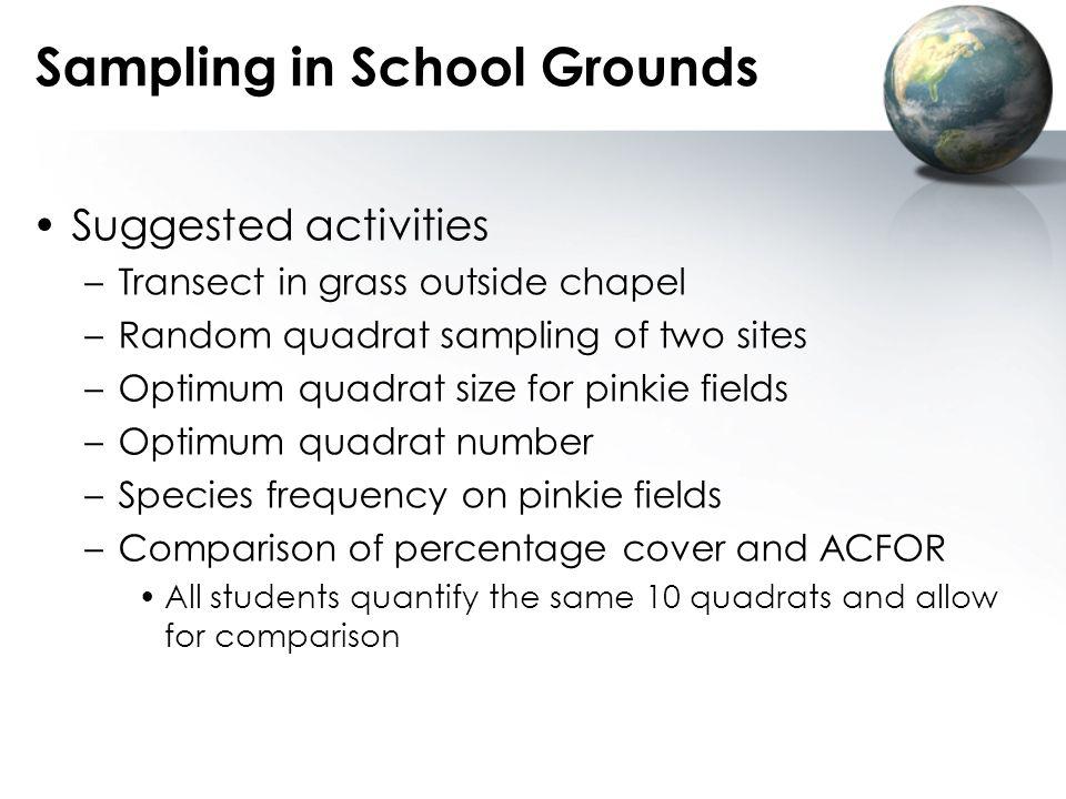 Sampling in School Grounds