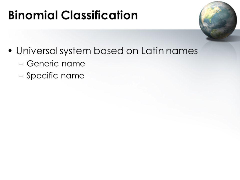 Binomial Classification